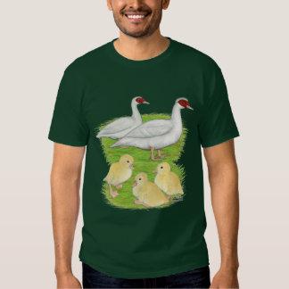 Ducks White Muscovy Family Tee Shirt