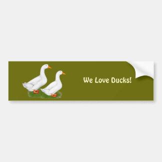 Ducks:  White Pekins Car Bumper Sticker