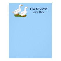 Ducks:  White Pekins Letterhead
