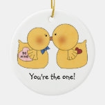 Ducks You're the One Valentine Ornament