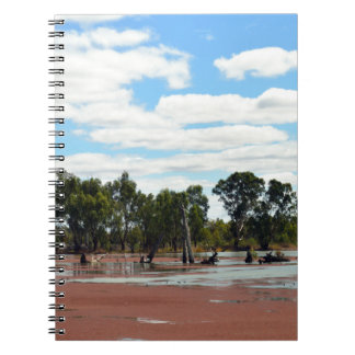Duckweed_On_The_River_Murray,_ Spiral Notebook