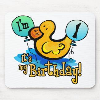 Ducky 1st Birthday Mousepads