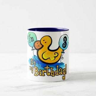 Ducky 3rd Birthday Two-Tone Coffee Mug