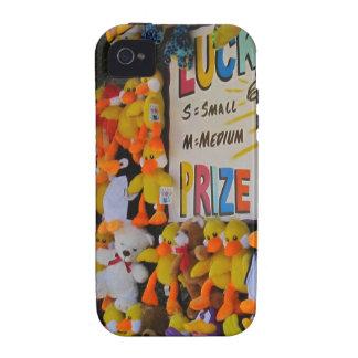 Ducky afortunado de los días del carnaval vibe iPhone 4 fundas