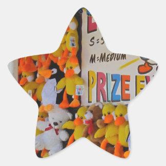 Ducky afortunado de los días del carnaval calcomanias forma de estrella