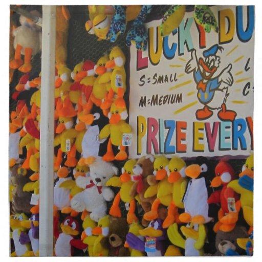 Ducky afortunado de los días del carnaval servilleta