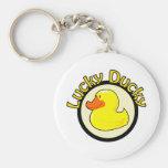 Ducky afortunado llaveros personalizados