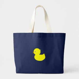 Ducky amarillo bolsa de tela grande