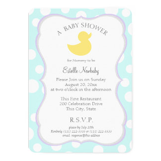 Ducky Baby Shower Card