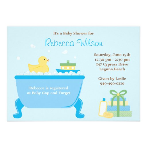 Ducky Baby Shower Invitation