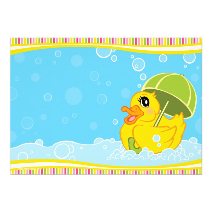 Rubber Ducky Invitations with awesome invitations layout