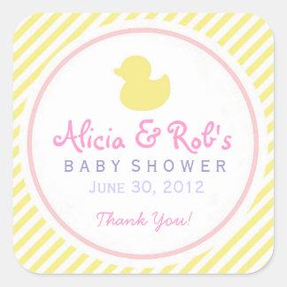 Ducky Baby Shower Sticker