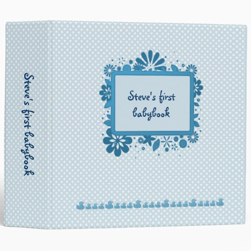 ducky babybook blue vinyl binder