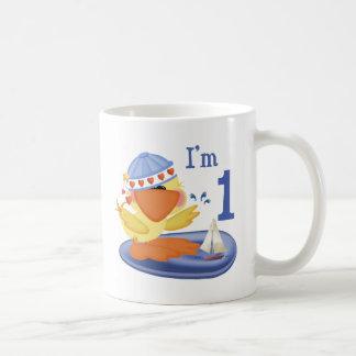 Ducky Boy 1st Birthday Coffee Mugs