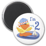 Ducky Boy 2nd Birthday Fridge Magnet