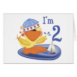 Ducky Boy 2nd Birthday Greeting Card