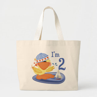 Ducky Boy 2nd Birthday Large Tote Bag