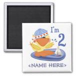 Ducky Boy 2nd Birthday Magnet