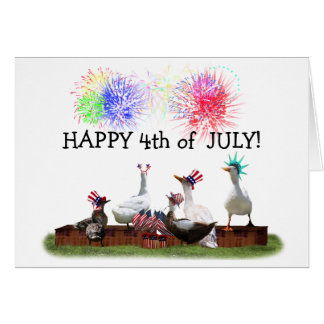 Ducky Celebration for the 4th of July Card