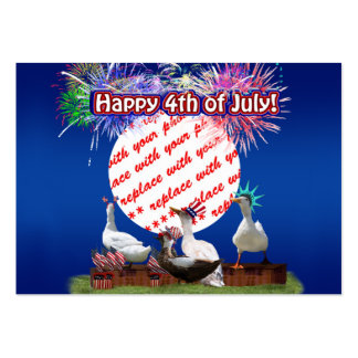 Ducky Celebration for the 4th of July Frame Large Business Cards (Pack Of 100)