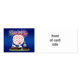 Ducky Celebration for the 4th of July Frame Double-Sided Mini Business Cards (Pack Of 20)