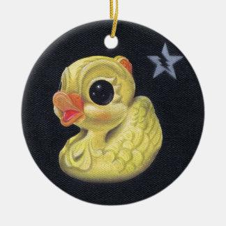 ducky ceramic ornament