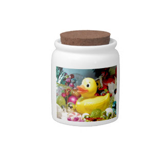 Ducky Christmas I Candy Jars