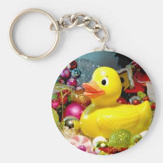 Ducky Christmas I Keychain
