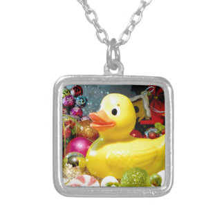 Ducky Christmas I Silver Plated Necklace