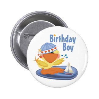 Ducky Cutie Birthday Boy Buttons