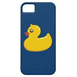 Ducky de goma amarillo lindo de la diversión funda para iPhone SE/5/5s