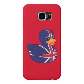 Ducky de goma británico fundas samsung galaxy s6