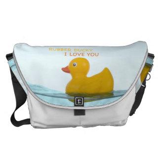 Ducky de goma del bolso del bebé te amo bolsas de mensajería