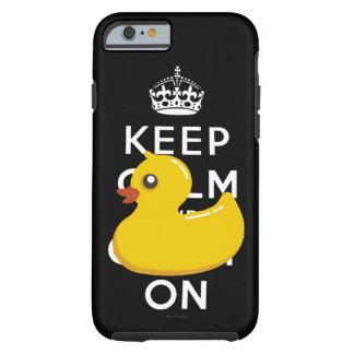 Ducky de goma guardan calma y continúan funda resistente iPhone 6
