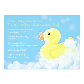 Ducky de goma - invitación de la fiesta de