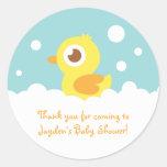Ducky de goma lindo en baño de burbujas pegatinas