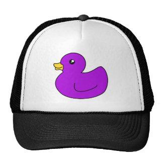 Ducky de goma púrpura gorras de camionero