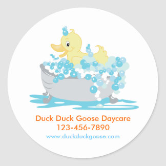 Ducky Duck in Tub Customized Stickers