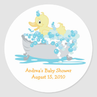 Ducky Duck in Tub Favor Stickers
