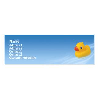 Ducky - flaco tarjetas de visita mini