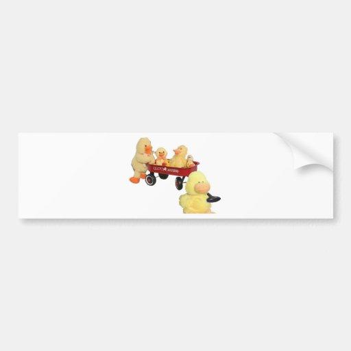 Ducky Flyer Car Bumper Sticker