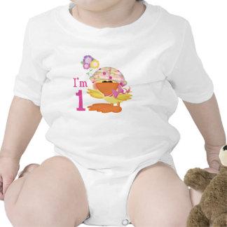 Ducky Girl 1st Birthday Shirts