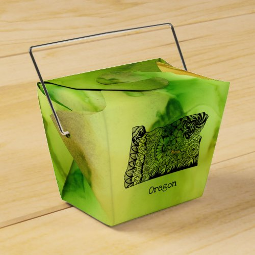Ducky Green Favor Box