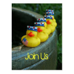 Ducky Independence Day Postcard