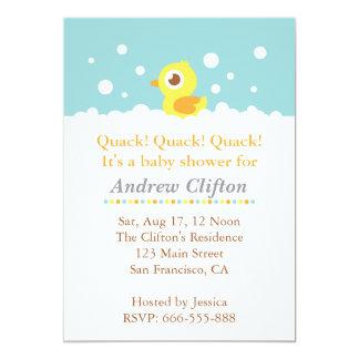 """Ducky lindo con el fiesta de fiesta de bienvenida invitación 5"""" x 7"""""""