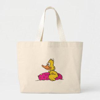 ducky lindo en balsa bolsa tela grande