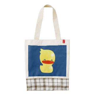 Ducky lindo estupendo bolsa tote zazzle HEART