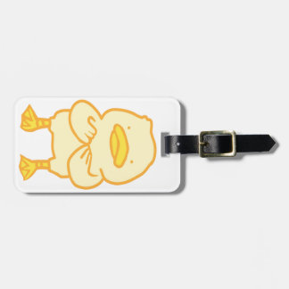 Ducky Luggage Tag w/ leather strap