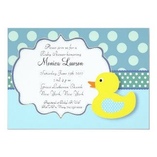 ducky baby shower invitations & announcements | zazzle, Baby shower invitations