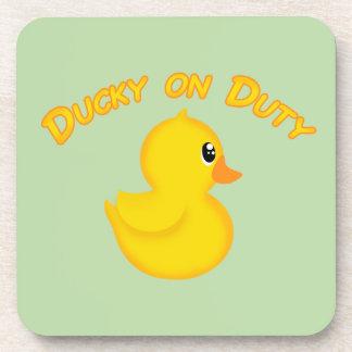 Ducky on Duty Beverage Coaster
